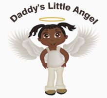 Daddy's Little Angel Girl 1 Kids Tee
