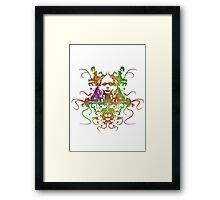 Rorschach Abstract Psychedelic #1 Framed Print