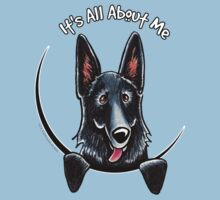 Black German Shepherd :: Its All About Me T-Shirt