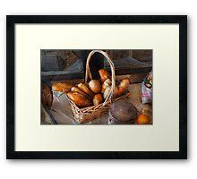 Kitchen - Food - Bread - Fresh bread  Framed Print