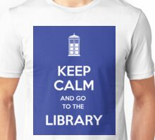 Keep calm and go to the library! Unisex T-Shirt