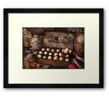 Kitchen - Food - Eggs - 18 eggs  Framed Print
