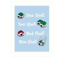 1 Shell 2 Shell Art Print