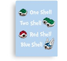 1 Shell 2 Shell Canvas Print