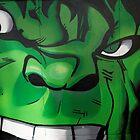 Street Art Brighton - The Hulk by Steve Churchill
