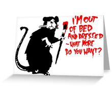 Banksy - Out of Bed Rat Greeting Card