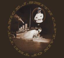 ☝ ☞ EJ SMITH CAPTAIN OF THE TITANIC & TITANIC -TEE SHRIT-Titanic leaving Belfast with two guiding tugs ☝ ☞ by ✿✿ Bonita ✿✿ ђєℓℓσ
