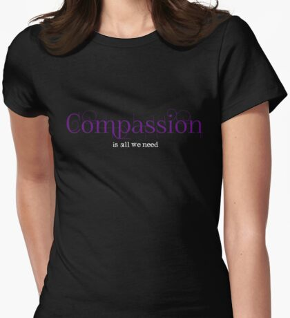 COMPASSION Womens Fitted T-Shirt