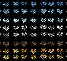 ombre hearts by Scarletraven