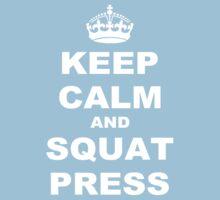 Keep Calm and Squat Press Kids Clothes