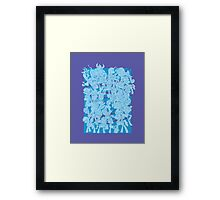 mlp - Rainbow dash blue Framed Print