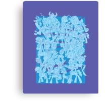 mlp - Rainbow dash blue Canvas Print