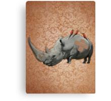 Big Headed Rhino Canvas Print