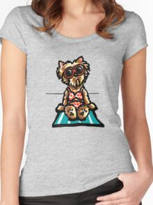 Beach Babe Yorkie Women's Fitted Scoop T-Shirt