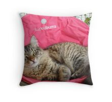 PEARL - MY LUCKY BUM Throw Pillow