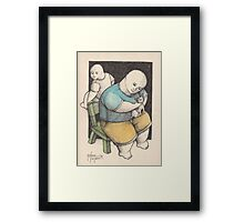 A MAN AND A CHIHUAHUA Framed Print