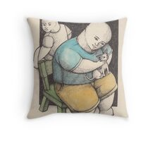 A MAN AND A CHIHUAHUA Throw Pillow