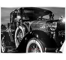 Black & White Classic Ford  Poster