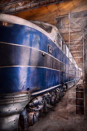 Train - The maintenance facility  by Mike  Savad