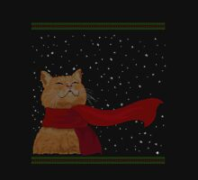 Tabby loves Snow (Knitted-version) Unisex T-Shirt