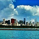 Chicago and Lake Michigan by JimSchneider