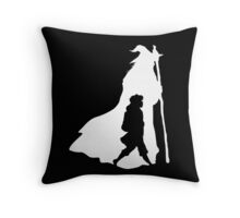 On an Adventure - inverted Throw Pillow