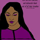 Transform Your Trouble - woman in purple by Kate Farrant