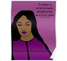 Transform Your Trouble - woman in purple Poster