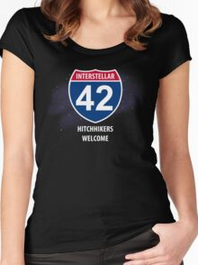 Hitchhikers Welcome Women's Fitted Scoop T-Shirt