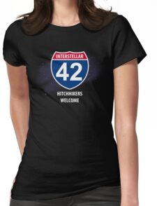 Hitchhikers Welcome Womens Fitted T-Shirt