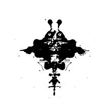 Stingray Inkblot Black and White by dylankennedy88