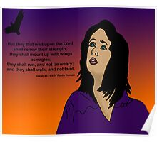 Purple and Orange Digital painting with scripture Poster