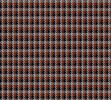 01040 Coigach Tweed (Gun Club Check) District Tartan Fabric Print Iphone Case by Detnecs2013