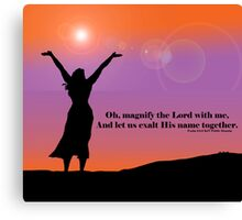 Exalt the Lord our God - Woman Worshipping Canvas Print