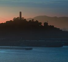 Coit Tower Sunset by David Denny
