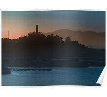 Coit Tower Sunset Poster