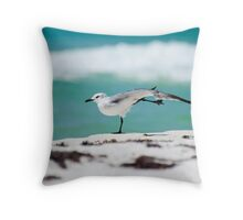 Beach Yoga - 1st Pose Throw Pillow