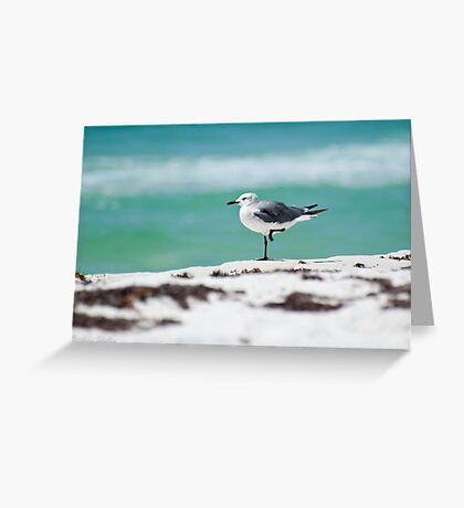 Beach Yoga - Third Pose Greeting Card