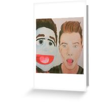 Chris Colfer Puppet Greeting Card