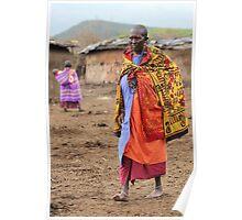 Masai Village Life Poster