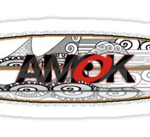 AMOK - tribal breaker surfboard Sticker