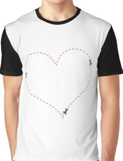 Dashed Heart Graphic T-Shirt