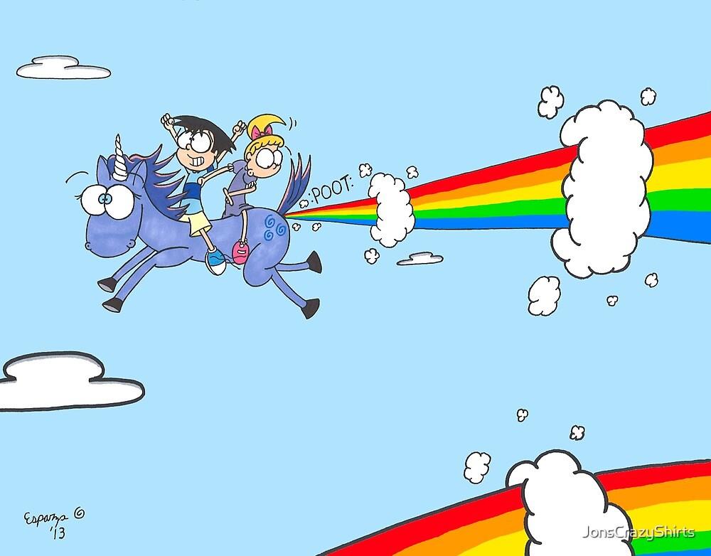 Of Rainbows and Unicorns by JonsCrazyShirts
