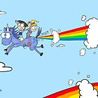 Of Rainbows and Unicorns by JonsCrazyShirts