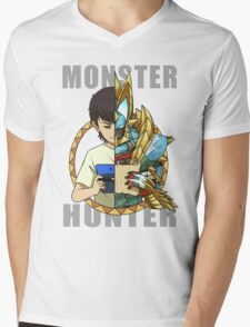 Hunter's Life (Zinogre) Mens V-Neck T-Shirt