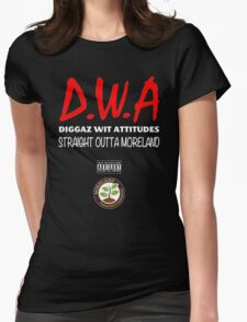 Diggaz wit attitudes Womens Fitted T-Shirt