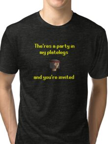 Runescape - Party in my platelegs Tri-blend T-Shirt