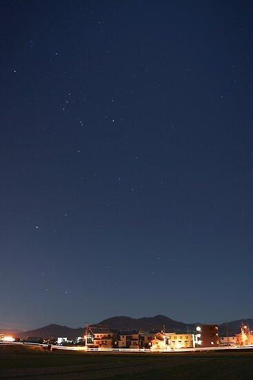 suburb of Fukuoka under the stars by parisiansamurai