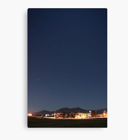 suburb of Fukuoka under the stars Canvas Print