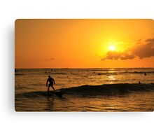 Waikiki Sunset Canvas Print